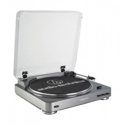 Audio-Technica AT-LP60 Fully Automatic Belt-Drive Turntable - Silver