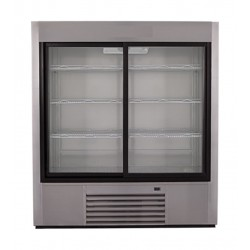 Wansa 46 Cft. Window Refrigerator (2GDS) – Stainless Steel