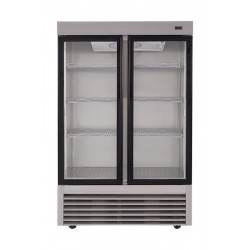 Wansa 34 Cft. Window Refrigerator (2GDHAS) - Stainless Steel