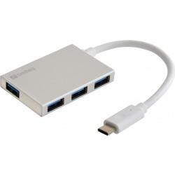 Sandberg USB-C to 4x USB 3.0 Pocket Hub (136-20)
