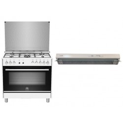 Lagermania 90x60 Gas Cooker with Oven + Lagermania Cooker Hood