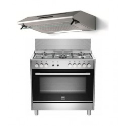 La Germania 90x60 Gas Cooker +  Lagermania 90 x 60 Cooker Hood