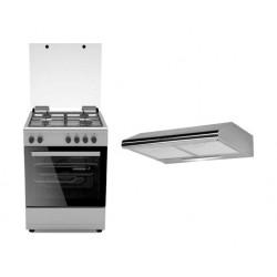 Wansa Gas Cooker 60 x 60 cm + Wansa 60cm Cooker Hood
