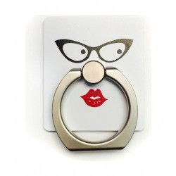 Iring Universal Stand and Grip for Smartphones Patern 12 - Eyes and Lips