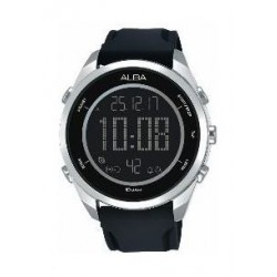 Alba Gents Sport Digital Rubber Watch (A5A009X1) - Black