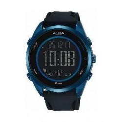 Alba Gents Sport Digital Rubber Watch (A5A007X1) - Black