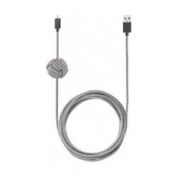Native Union Night Zebra Lightning to USB Cable 3m - Grey