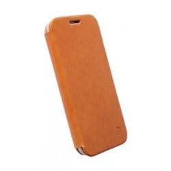 Krusell Kiruna Flip Leather Cover for Samsung Galaxy S6 - Camel