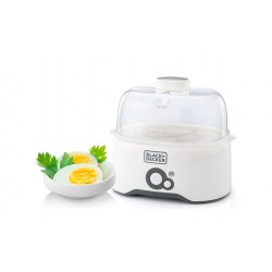 Black + Decker 280W Egg Boiler (EG200) - White