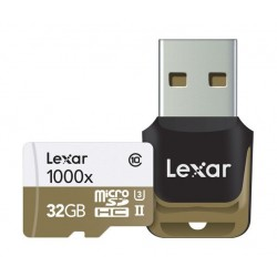 Lexar 32GB UHS-II 1000x MicroSDHC Class 10 Memory Card
