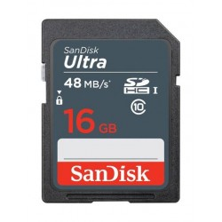 SanDisk 16GB SDHC Memory Card Ultra Class 10 UHS-1 48 Mbps - SDSDUNB-016G