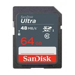 SanDisk 64GB SDXC Memory Card Ultra Class 10 UHS-1 48 Mbps - SDSDUNB-064G