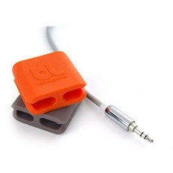 BlueLounge Cable Clip 2 Packs - Orange/Grey - Medium