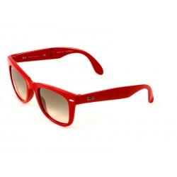 76db2e62d97 Ray-Ban 4105 Wayfarer Sunglasses For Men   Women - Red Frames   Grey Lenses