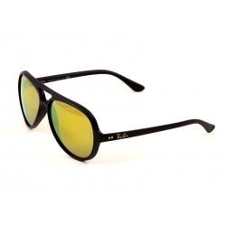1e72c02f797 Ray-Ban 4125 Aviator Sunglasses For Men   Women - Black Frames   Gold Lenses