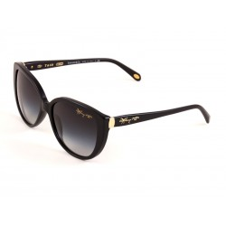 08642af50b Tiffany   Co. 4082 Cat Eye Sunglasses For Women - Black Frames   Grey Lenses
