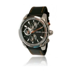 Borelli Gents Quartz Analog 44mm Ultra Marine Leather Watch (20046242) - Black