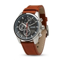 Borelli 44mm Gent's Chronograph Leather Watch (20050038) - Brown