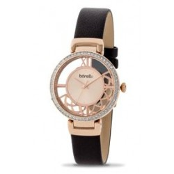 Borelli Ladies Quartz Analog 33mm Leather Watch (20050785) - Brown