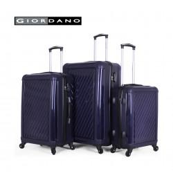 Giordano 25/732322 Hard Luggage 3 Piece Set - Navy (71X44X29 CM)