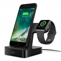 Belkin PowerHouse Apple Watch + iPhone Charge Dock  (F8J200VFBLK) - Black 1st view