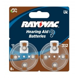 Rayovac 8Pcs Hearing Aid Batteries (312 Blister)