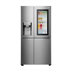 LG 25 Cft. 4 Door Refrigerator (GR-X257CSAV) Stainless Steel - Front
