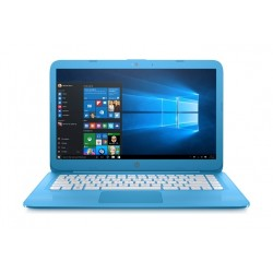 HP Stream Intel Celeron 4GB RAM 32 GB eMMC 14-inch Laptop (14-CB004NE) - Aqua Blue