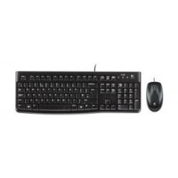 Logitech Wired Keyboard and Mouse - MK120 (920-002546) English/Arabic
