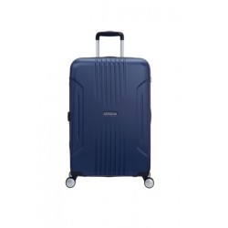 American Tourister Tracklite 55CM Spinner Hard Luggage (34GX01801) - Matte Blue