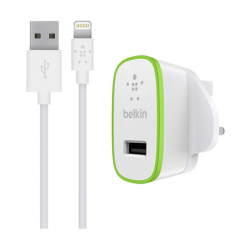 Belkin Home Charger With Lightning Cable - 1.8 Meter (F8J204DR06) - White