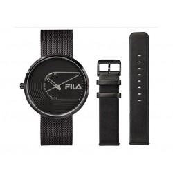 FILA 40mm Analog Unisex Mesh Watch + Leather Bands - 38178003