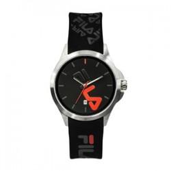 Fila 40mm Unisex Analogue Rubber Sports Watch (38181007) - Black/Red