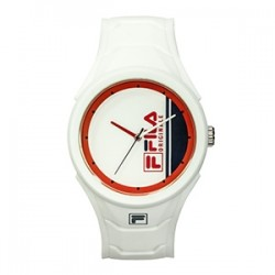 Fila 45mm Unisex Analogue Rubber Sports Watch (38311002) - White/Red