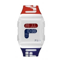 Fila 36mm Gent's Digital Rubber Sports Watch (38105005) - White