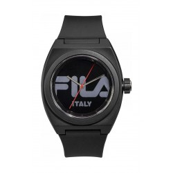 Fila 42mm Unisex Analogue Rubber Sports Watch (38180002) - Black