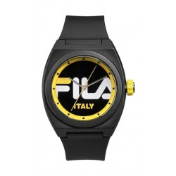 Fila 42mm Unisex Analogue Rubber Sports Watch (38180003) - Black