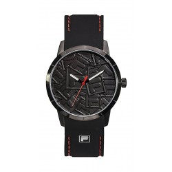 Fila 53mm Gent's Analogue Rubber Fashion Watch (38186003) - Black
