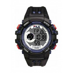 Fila 52mm Gent's Digital Rubber Sports Watch (38188003) - Black