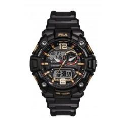 Fila 52mm Gent's Digital Rubber Sports Watch (38189003) - Black