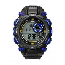Fila 53mm Gent's Digital Rubber Sports Watch (38826001) - Black