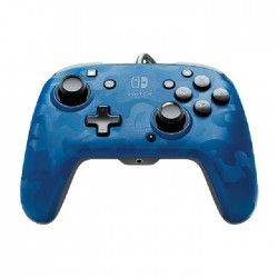 PDP Faceoff Deluxe+ Audio Wired Controller for Nintendo Switch – Camo Blue