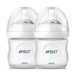 Philips Avent Classic Plus 125ml Baby Bottle 2Pcs - Clear