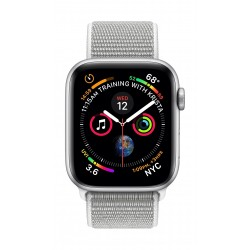 Apple Watch Series 4 Aluminum Case with Seashell Sport Loop - Silver