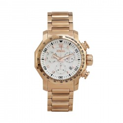 Jovial 48mm Chronograph Gents Metal Fashion Watch (4766-GRMC-01) - Gold