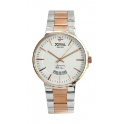 Jovial 41mm Analog Gent's Fashion Metal Watch - (4772-GAMQ-01)