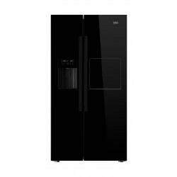Beko 24 Cft Side by Side Refrigerator (GN168421WB) – Black