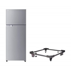 Toshiba Inverter 18 Cft. Double Door Refrigerator + Stand For Refrigerator With Large Wheels