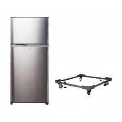 Toshiba Inverter 25 Cft. Top Mount Refrigerator + Stand For Refrigerator With Large Wheels