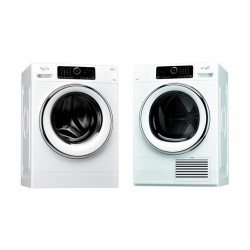 Whirlpool Front Load Washer 10kg White + Whirlpool 10 Kilogram Dryer Condenser